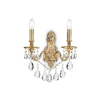 Ideal Lux Gioconda Traditional Rich Gold Wall Light With Diamante Design