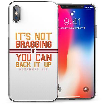 iPhone X Мухаммед Али вдохновляющие цитатой гель ТПУ - белый