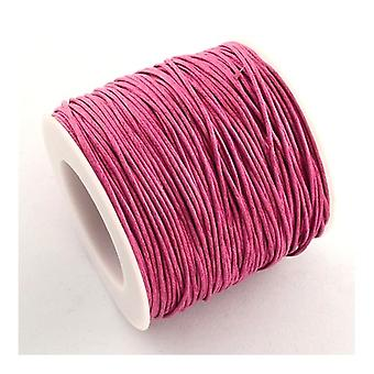 1 x Pink Waxed Cotton 5m x 1mm Thong Cord Continuous Length Y06205