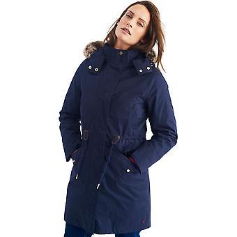 Joules Womens/Ladies Wyndfall Fur Trim Hooded 3-in-1 Parka Jacket Coat