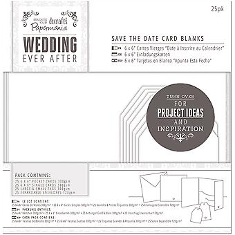 Papermania Ever After Wedding Blank Cards 25/Pkg-White Die-Cut Heart PM158150