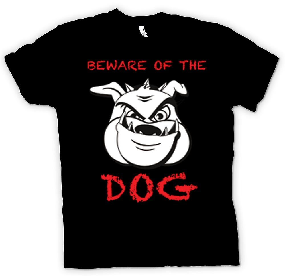 Kids T-shirt - Beware Of The Dog - Mean Boxer Dog