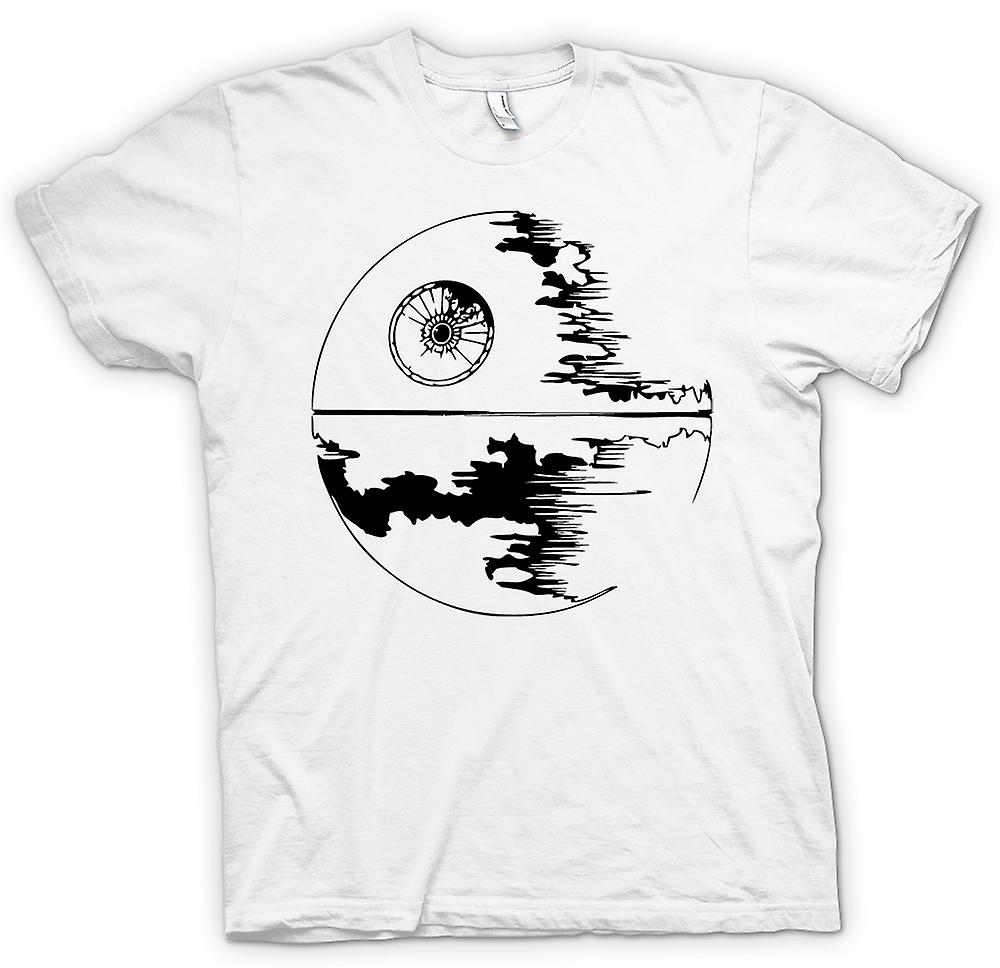 T-shirt des hommes - Death Star en construction