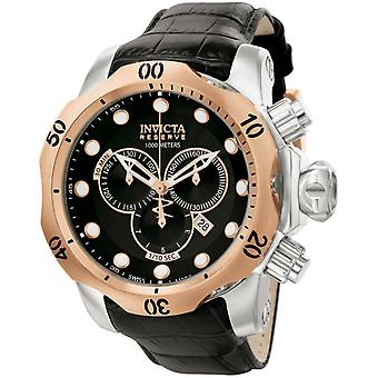 Invicta  Reserve 0360  Leather Chronograph  Watch