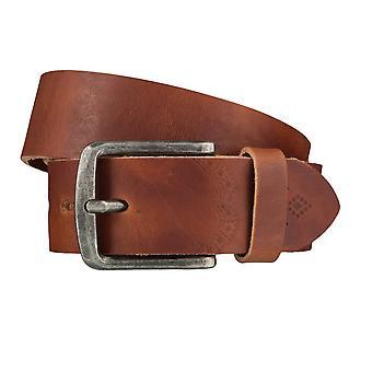 LLOYD Men's belt belts men's belts leather belt brandy 4027