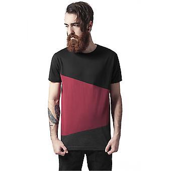 Urban classics T-Shirt long shaped zig zag tea