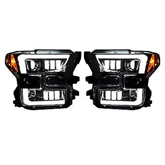 Recon 264290BKC F-150 Ford Smoked-Black Projector Headlights