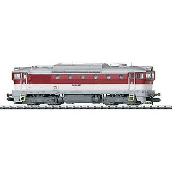 MiniTrix T16736 N diesel locomotive series 750 of the ZSSK