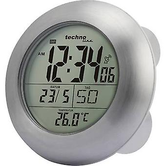 Techno Line WT 3000 Radio Wall clock 17.2 cm x 5.4 cm Silver Suitable for bathrooms/wet rooms