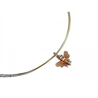 Gemshine - damas - collar - colgante - plata 925 - oro - BEE - bee - 45 cm