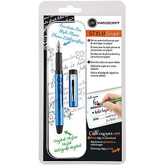 مخطوطة ستيلوسكريبت قلم حبر أزرق