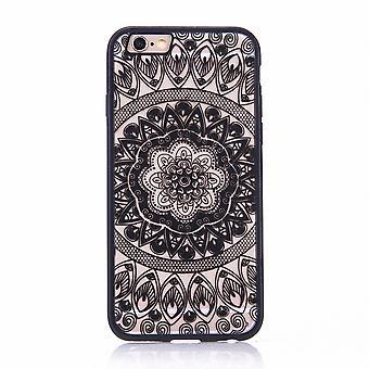 Handy Hülle Mandala für Samsung Galaxy A5 2017 Design Case Schutzhülle Motiv Kreis Cover Tasche Bumper Schwarz