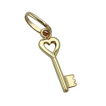 Schlüsselanhänger gold 375 Anhänger, Herz Schlüssel, 9 Kt GOLD