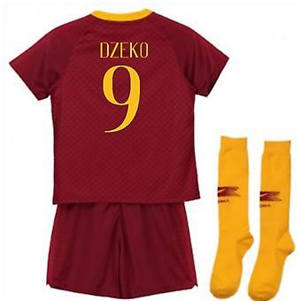 2018-2019 AS Roma Home Nike kleine jongens Mini Kit (Dzeko 9)