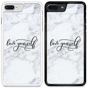 Love yourself Marble Design Custom Designed Printed Phone Case For Sony Xperia XZ1 Marble10 / White
