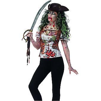 Los trajes de los niños señoras Zombie piratean t-shirt