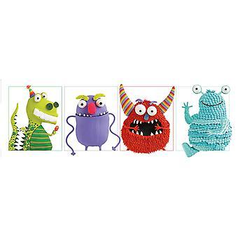 Cartel de monstruos 4 en una serie de pequeño formato T rposter