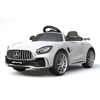 Licensed Mercedes Benz GTR AMG 12V Motors Kids Electric Ride On Car White