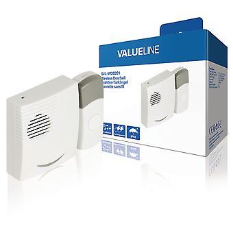 ValueLine SVL-WDB201 Wireless Tür läuten mit 36 verschiedenen Melodien Dc weiß/hellgrau