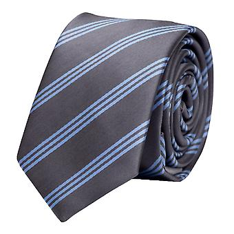 Tie cravate cravate cravate 6cm gris bleu clair rayé Fabio Farini