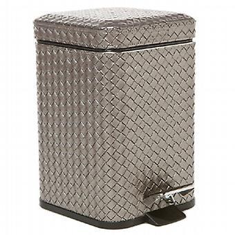 Gedy Marrakech poubelle à pédale souple Fermer 3L Antique Silver 6709 77