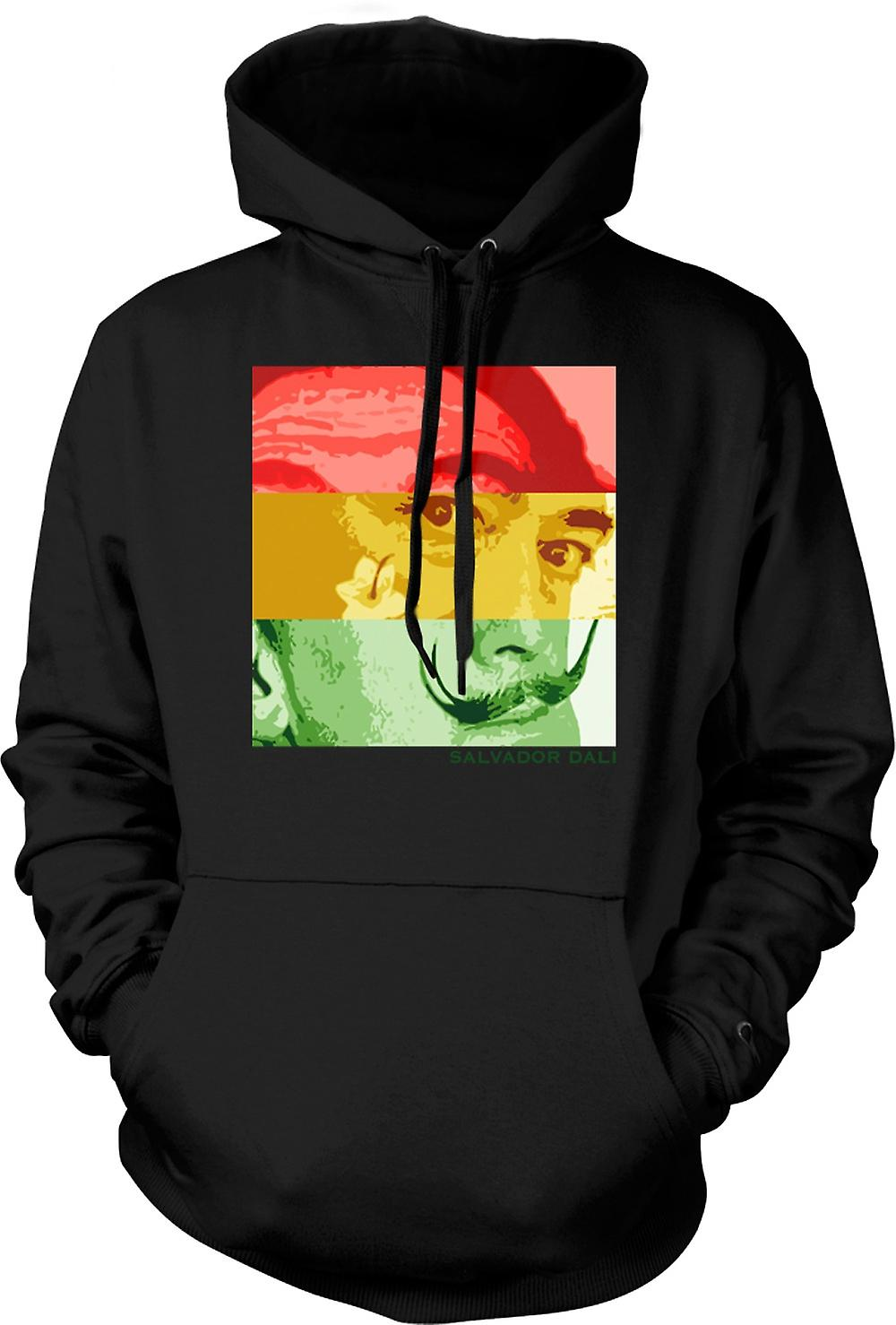 Mens Hoodie - Salvador Dali - Pop Art - artista surreale