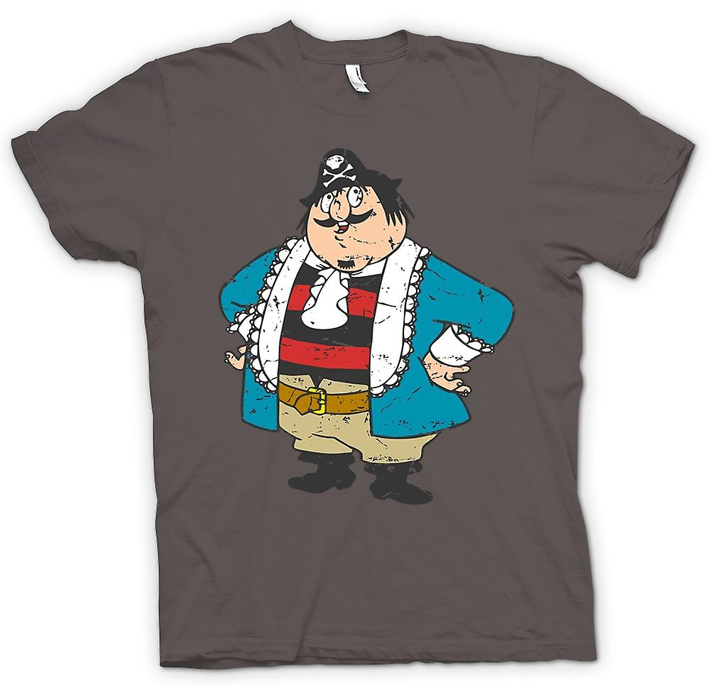 Womens T-shirt - Kapten Pugwash Cartoon - Retro
