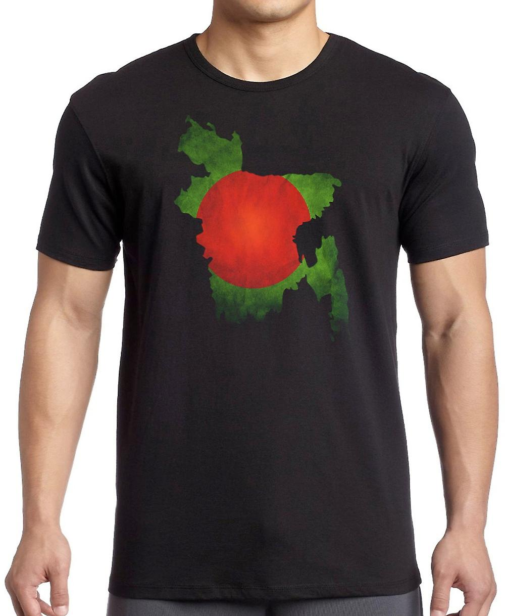 Bangladeshi Bangladesh Flag Map T Shirt