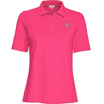 U.S. POLO ASSN. flashy ladies polo shirt Polo Shirt Pink