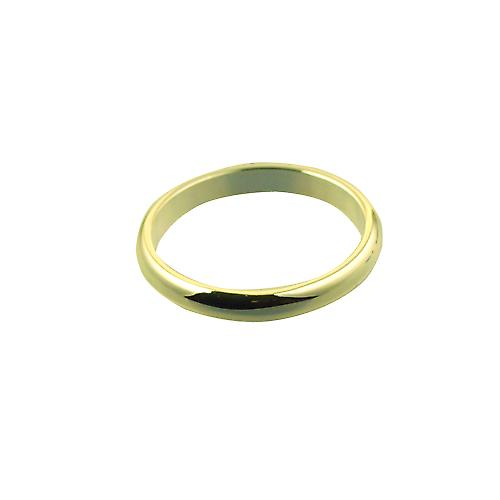 18ct Gold 3mm plain D shaped Wedding Ring Size Y