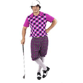 Mens Pink Pub Golf Sport Stag Night Fun Fancy Dress Costume