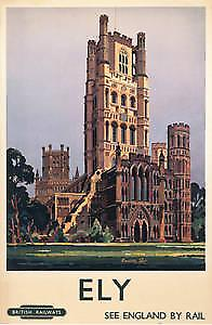 Ely Cathedral Cambs. (old rail ad.) fridge magnet