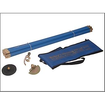 Bailey 5431 Universal 3/4in Drain Rod Set 3 Tools In Carry Bag