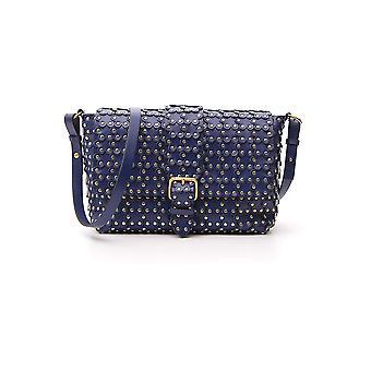 Red Valentino Blue Leather Shoulder Bag