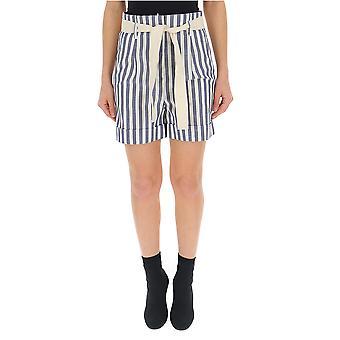 Semi-Couture weiß/grau Baumwollshorts