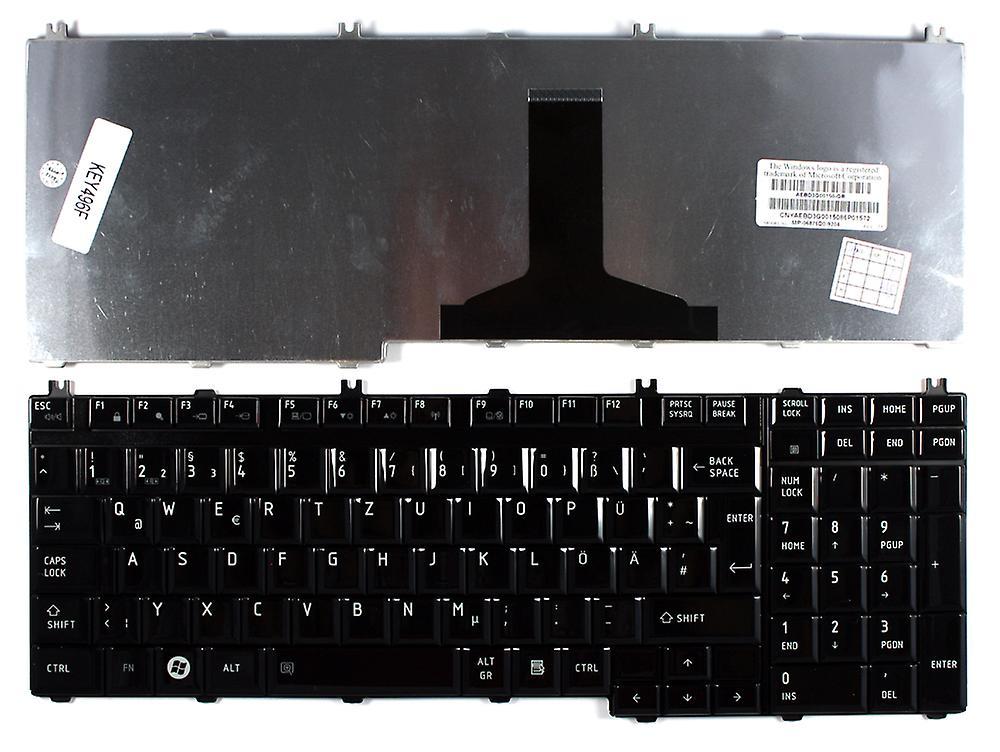 Clavier d'ordinateur portable Toshiba Satellite P300-1GK Layout allehommed noir brillant remplacement