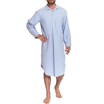Britse boksers Westwood Blue Stripe mannen Nachthemd