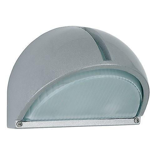 Endon EL-YG-5007 Silver Energy Saving Aluminium Half Round Wall Light