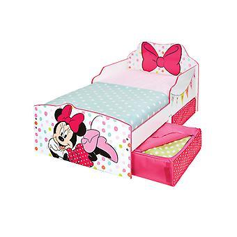 Minnie mouse cama de criança com armazenamento