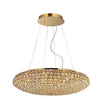 12 lumière grand plafond pendentif or