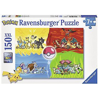 Puzzle 150 XXL verschiedene Pokemon