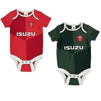 威尔士 RU 婴儿体衣 (装 2)