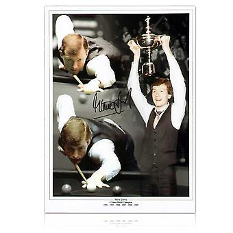 Steve Davis Signed Snooker Photo