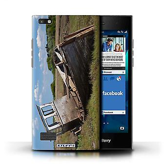 STUFF4 Case/Cover for Blackberry Leap/Shipwrecked/British Coast
