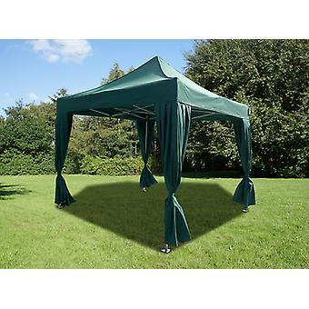 Namiot Ekspresowy FleXtents Easy up pavillon PRO Telthal 3x3m Zielony, zawierający 4 ozdobnymi kurtynami