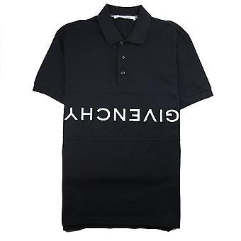 Givenchy Reverse Logo Short Sleeve Polo Black