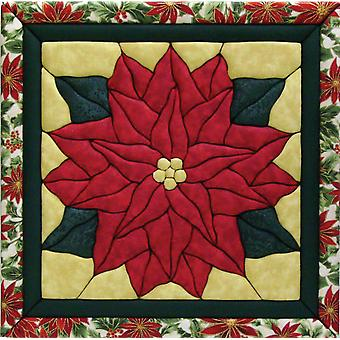 Poinsettia Quilt Magic Kit 12