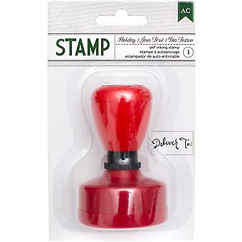 American Crafts Self-Inking Stamp-Deliver To: 340603