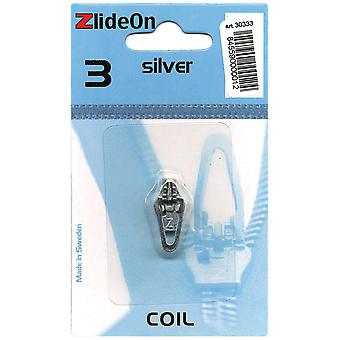 Zlideon Zipper Pull Replacements Coil 3 Silver 3033 3