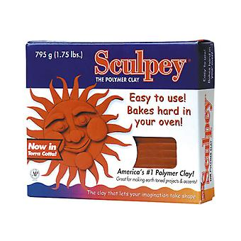 Sculpey Original Polymer Clay 1.75 Pounds Terra Cotta S2t